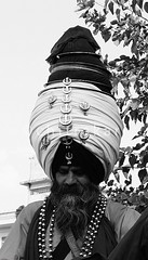 Turban (Chitrakari) Tags: portrait blackandwhite india interestingness cool explore canon350d warrior turban sikh punjab shiva hindu sanatan akali nihang