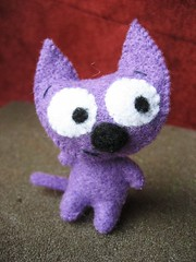 purple cat (ccyytt) Tags: cat purple handmade craft mini sew felt softie usewhatyouhave