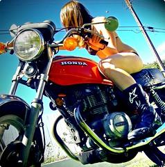 59/365. (kooop) Tags: selfportrait girl santabarbara explore motorcycle kelly swimsuit alpinestars hondamatic 365days