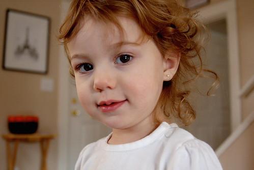 Portrait of a Little Niece -- portrait girl baby child face candid emotion niece little stop.down oregon stopdown