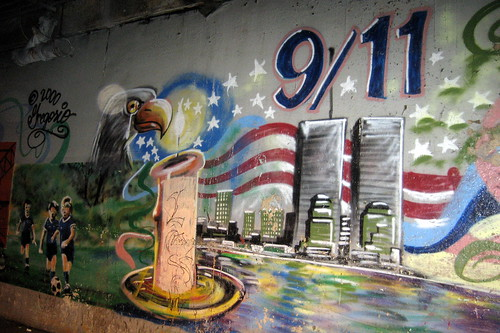 Queens - Woodside: Woodside on the Move Mural - 9-11 Vigil by wallyg from Flickr