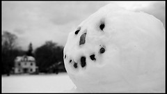 portrait of a snowman (Ben McLeod) Tags: portrait bw snowman newhampshire 1755mmf28g concord whitepark