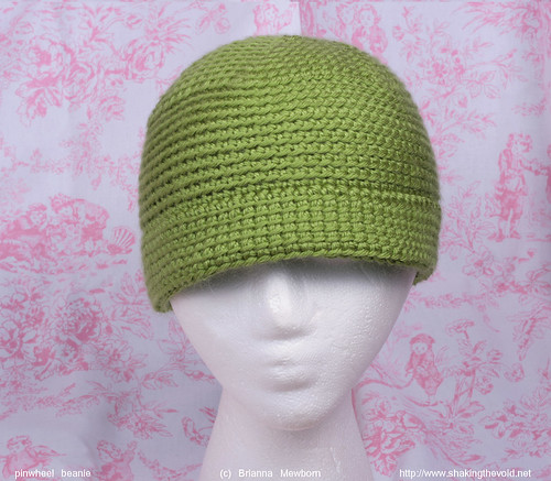green hat wheel pin crochet pinwheel lime beanie blo tunisian backloop briannamewborn backlooponly
