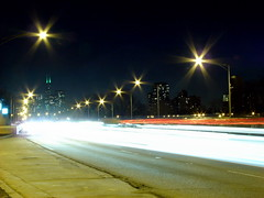 Star City (JosephRPalmer Photography) Tags: longexposure chicago stars lakeshoredrive damncool chicagoist awesomeshot capturedlight
