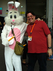 Michael Moncur and the Wiki Wabbit at Flickr
