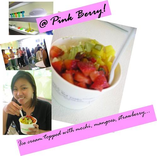 pink berry ice cream