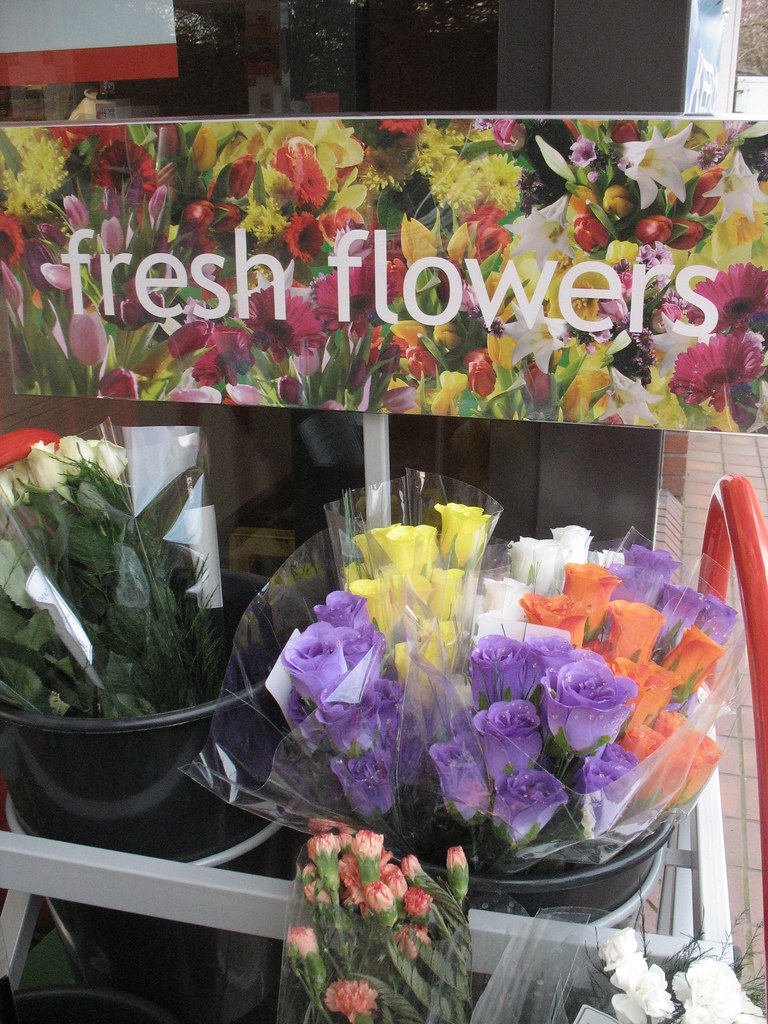 nine - fresh flowers and diggers