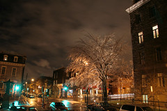 After the ice storm (beyond20khz) Tags: music canada tree rain st night jean montreal orchestra icy qc recording baptiste