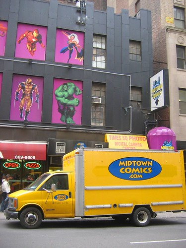 midtown comics truck in new york city, 40th st