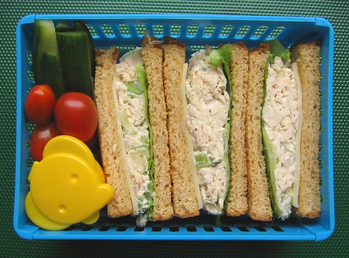 Sandwich lunch in sandwich case