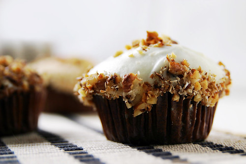 ginger-frosted carrot cupcake