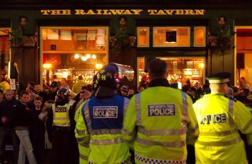 Chelsea fans, Railway Tavern, City of London