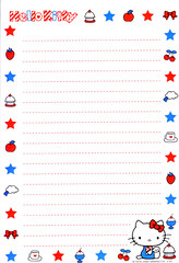 HK desserts (lightning_lover) Tags: hellokitty sanrio memo kawaii stationery notepaper