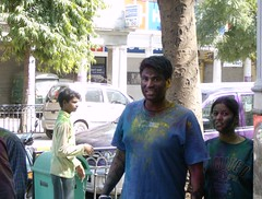 Holi in New Delhi 2007 (sftrajan) Tags: india colors delhi holi desis   gulal