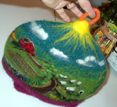 My Little Felt-tea Farm Tea Cozy