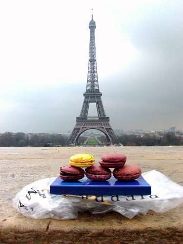 Macarons Gregory Renard à la Tour Eiffel