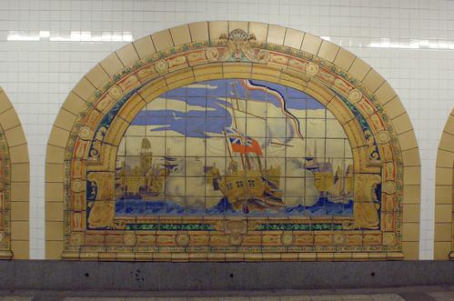 Marine Grill Murals (3/6), Broadway-Nassau Station