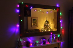 10th December 2016 (lucy★photography) Tags: christmas tree lights decorations mirror led coloured colored colour color ornaments