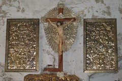 Crucifix and panels (Leo Cloma) Tags: santa metal cross panel philippines saints holy santos crucifix week vigan semana