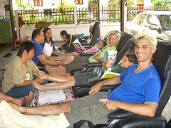 Group Reflexology in Chiang Mai