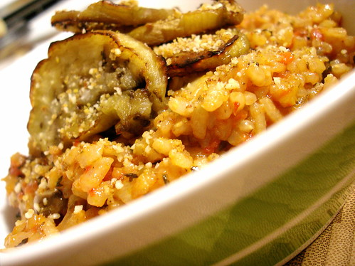 Tomato, Mushroom, and Eggplant Risotto