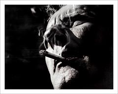 La fume dans le nez... (Pierre Beteille) Tags: bw selfportrait me photomanipulation photoshop ego autoportrait pierre retrato cigarette smoke moi portrt nb autoritratto toulouse autorretrato retouch selbstportrait fume selbstportrt  photoretouching  retouchephoto wwwpierrebeteillecom beteille pierrebeteille
