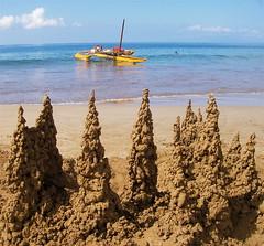 Drip Castles (jurvetson) Tags: ocean castles beach hawaii boat sand maui drippy magicsand