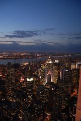 Lights... (jewast) Tags: above nyc newyorkcity usa night nikon top platform esb empirestatebuilding d200 afterdark ontop jewast