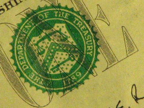 US Dollar Bill (by SqueakyMarmot)
