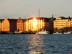 Kungsholmen in sunbath (DenesG1-still off, computerproblems) Tags: sea lake reflection water sunshine boats stockholm kungsholmen mlaren canonpowershota610