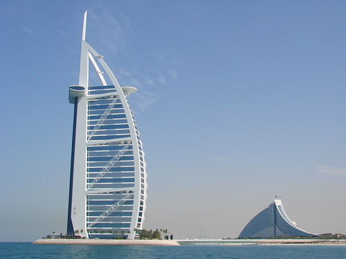 Photo of Burj Al Arab and Jumeirah Beach Hotel in Dubai