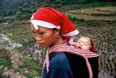 VIETNAM (BoazImages) Tags: life family portrait woman baby asia tribal vietnam zhao motherchild yao indigenous