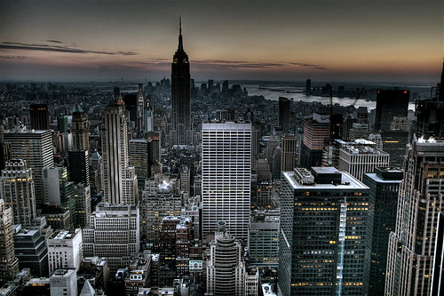 Gotham City Background New York City Skyline Wallpaper (HDR)