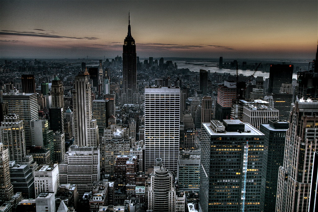 Gotham City Background New York Skyline Wallpaper HDR