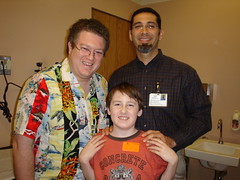 At the MAGIK Clinic, Dr. Joseph, Dr. Gold and Zachary!