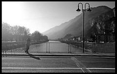 Fiume Adige (Mr.Pitone) Tags: people blackandwhite bw italy film blackwhite bn uomo trento trentino biancoenero adige pellicola bncitt bnscorci