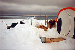 One of the working tents, after we cleared the snow