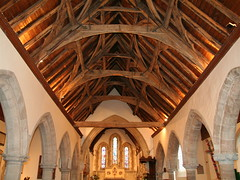14th century nave roof (St James the Great, Colwall) (Andrew Kelsall Photography) Tags: uk roof england history church parish architecture geotagged religious village timber religion arches historic christian malvern herefordshire christianity hereford beams anglican stjames midlands 1on1 saintjames colwall 1on1photooftheday 1on1photoofthedayfeb2007 1on1podmention21707