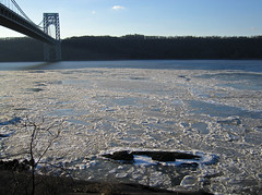 George Washington Bridge and ice on the Hudson (jschumacher) Tags: nyc ice hudsonriver georgewashingtonbridge