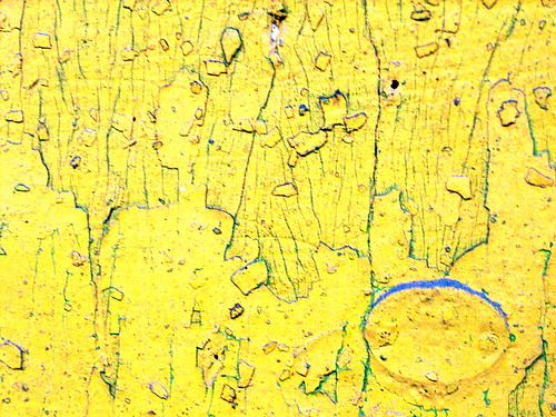 abstract photograph chippy yellow paint