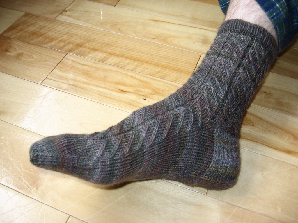 Diagonal Rib socks for Troy