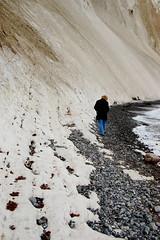 Mark on flint beach