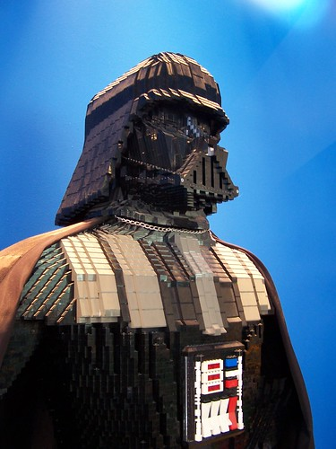 Darth Vader made with legos