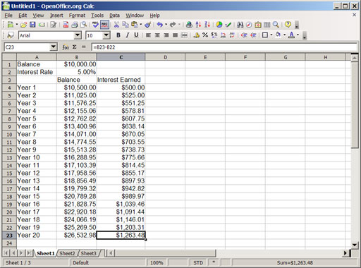 An Introduction To Compound Interest With Spreadsheets, Part 1 ...