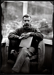 Rainy day father #3 (Cynan Jones) Tags: f63 stillraining collodion 7seconds 13x18cm levelsandcurves jaminlens positivecollodion softnegative 30seconddevelopment 5050positivedeveloperandtapwater nointesification