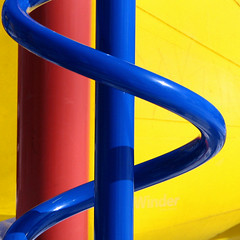 Primary Playground (Jeremy Stockwell) Tags: 3 abstract lines playground yellow square spiral three geometry stripes curves minimal rows photofriday minimalism curve primarycolors canonpowershots1is twtmeblogged jeremystockwellpix photofridayminimalism