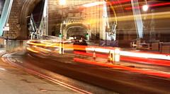 Tower Bridge Traffic (edwardkb) Tags: longexposure light london luz bulb night towerbridge island 50mm europe nacht eu panoramic slowshutter f56 nuit traffictrails notlondonbridge ruvjet canoneos400d edwardbarnieh