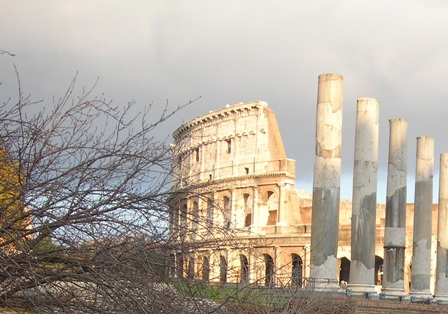 Collosseum and Senate at Dusk