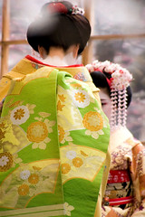 *Obi (yocca) Tags: girl japan female kyoto shrine 100v10f maiko kimono ume 2007  japaneseteaceremony  10faves feb2007 umefestival  6faves100v