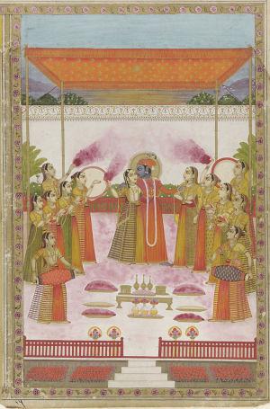 300px-A_Holi_Festival_-_Krishna_Radha_and_Gopis.jpg